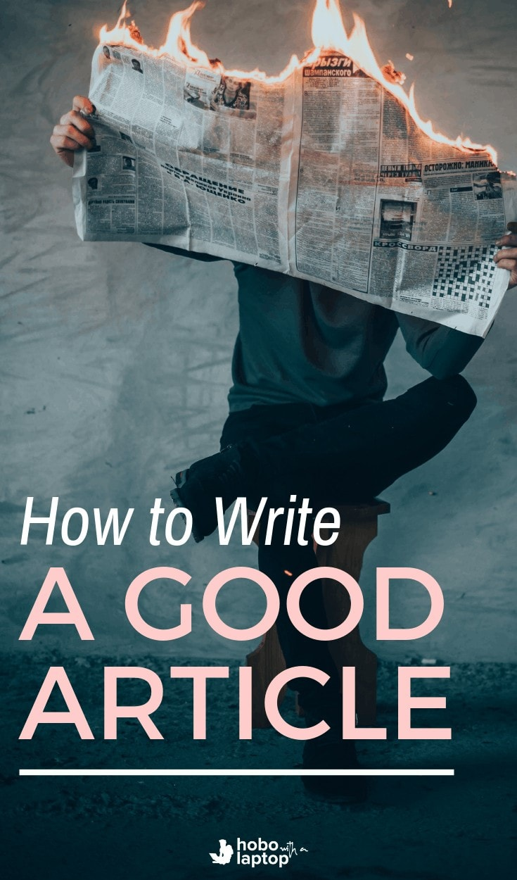 how to write a good article