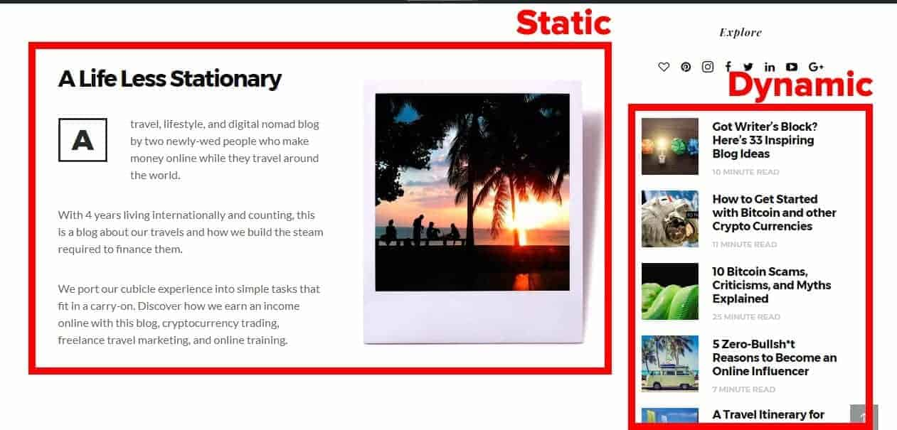 Dynamic vs Static Content