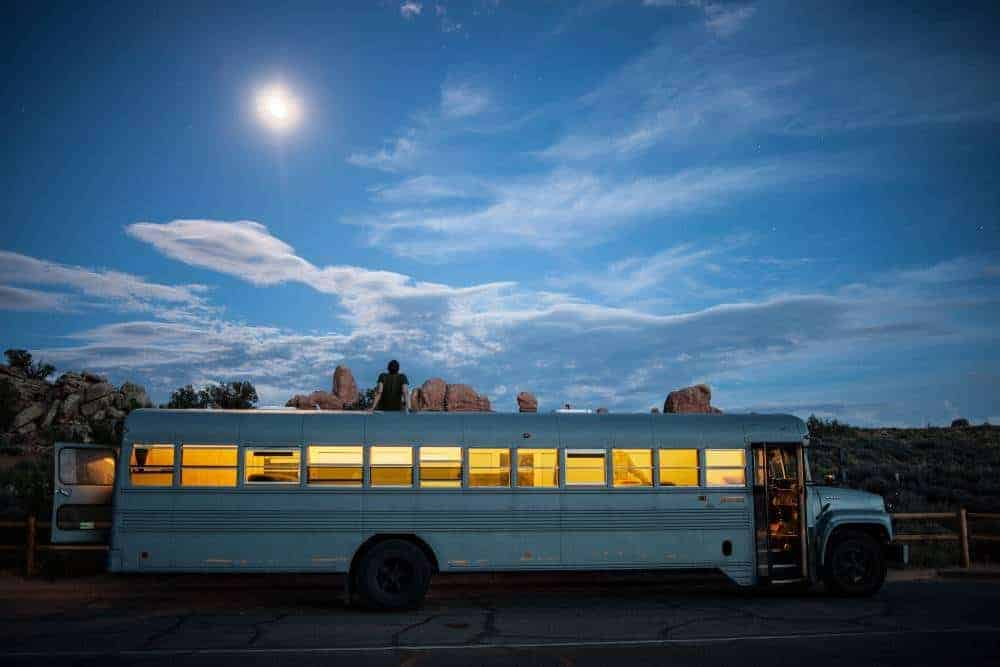 awesome digital nomad school bus tiny house