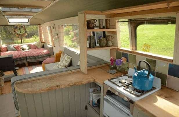 4 Buses Converted Into Awesome Tiny Houses On Wheels