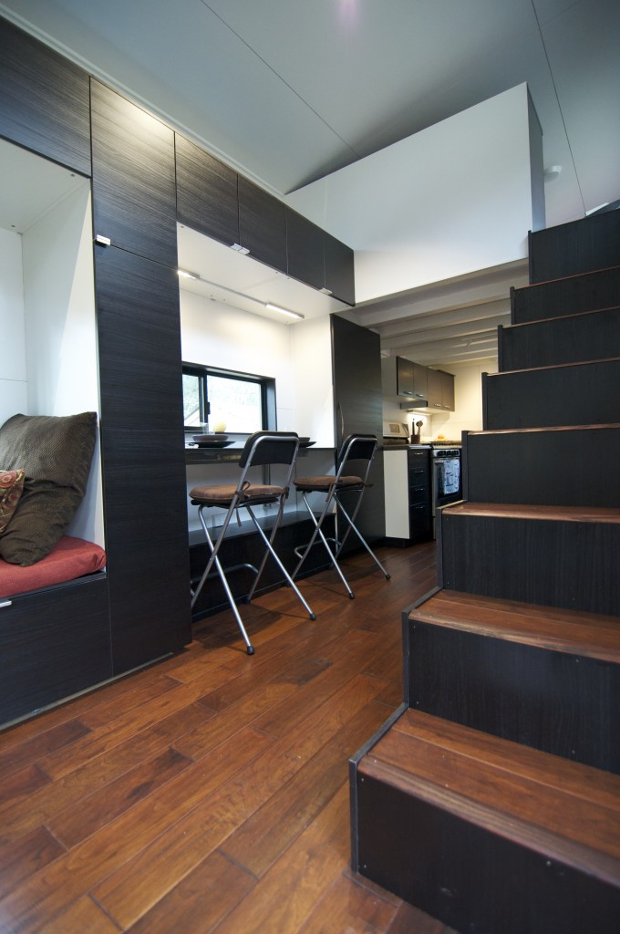 tiny house people stairs
