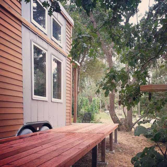 tiny house outdoor living