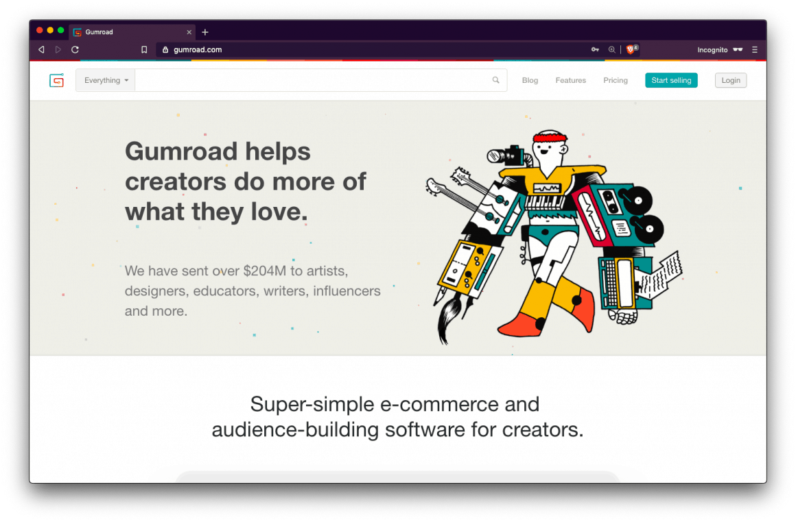 Make money with a blog using Gumroad