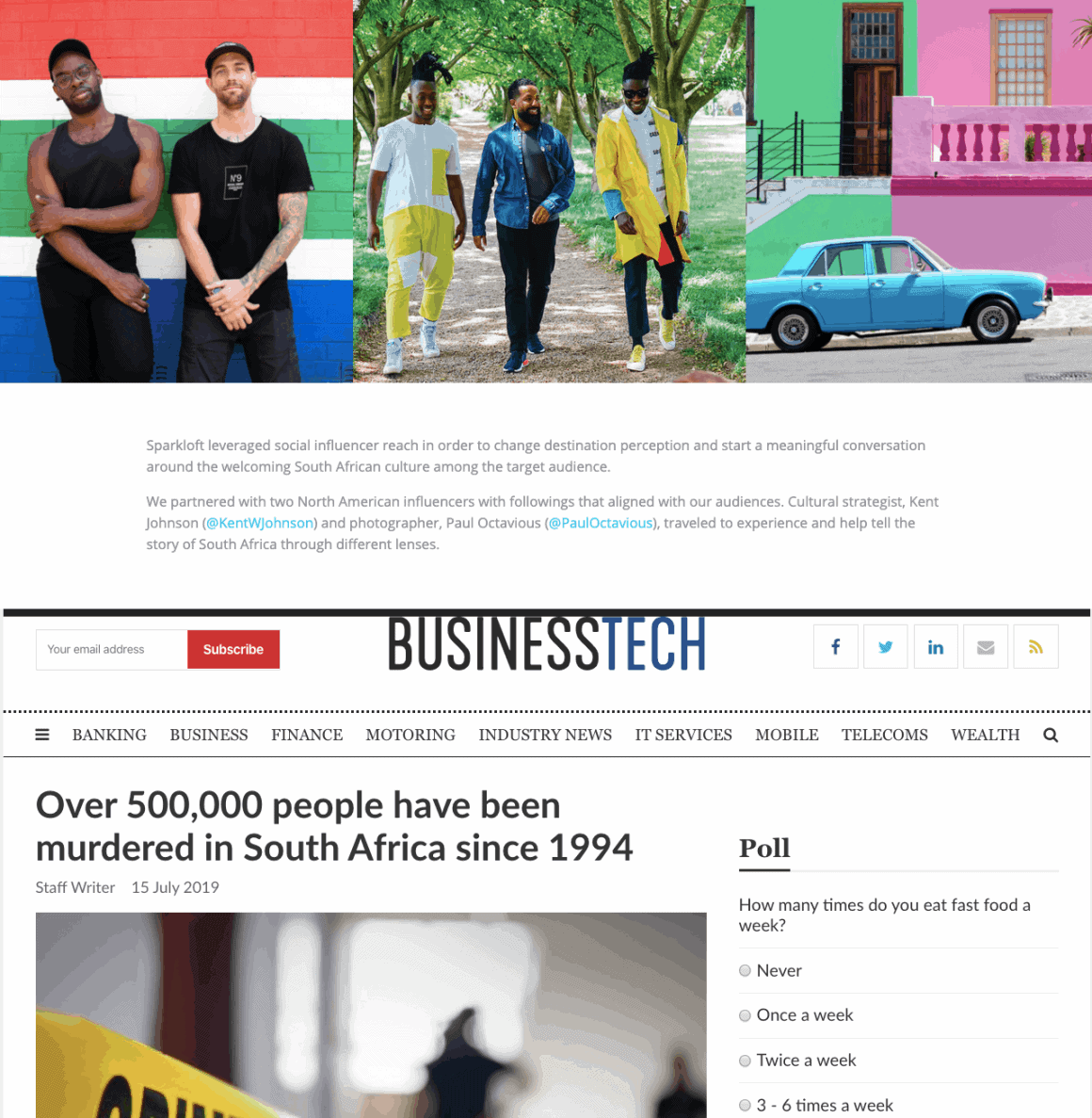 Influencer marketing to promote South Africa
