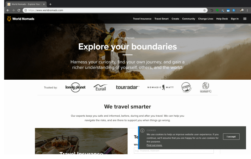 World Nomads Insurance - screenshot