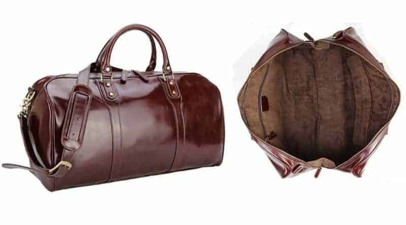 Leather luggage by Polare