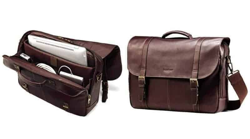 Leather travel bag by Samsonite