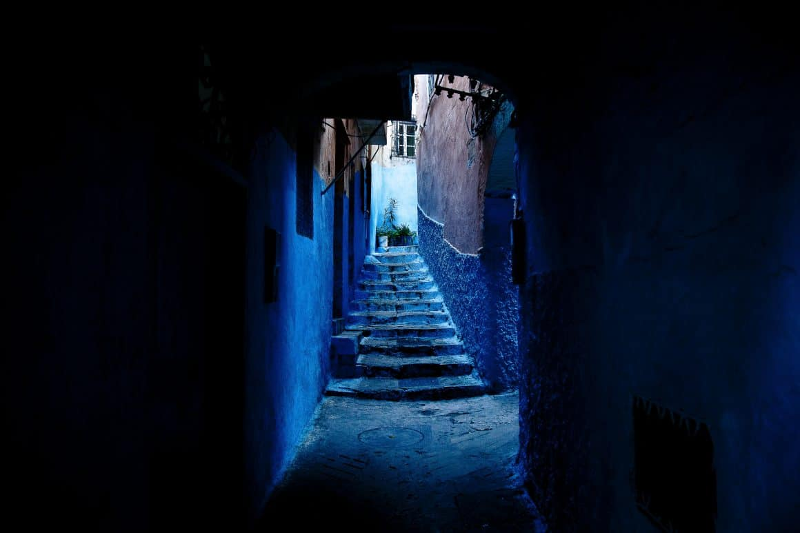 A mysterious blue corridor leading to all the top blogging tools